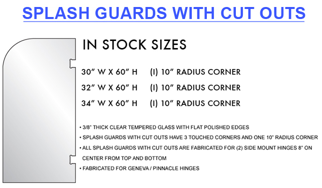 Splash Guards with Cutouts