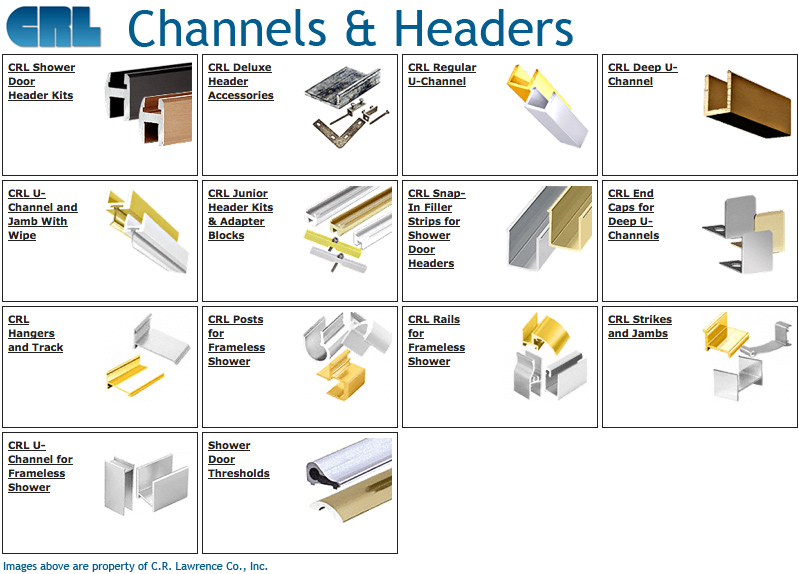 Shower Door Channels And Headers