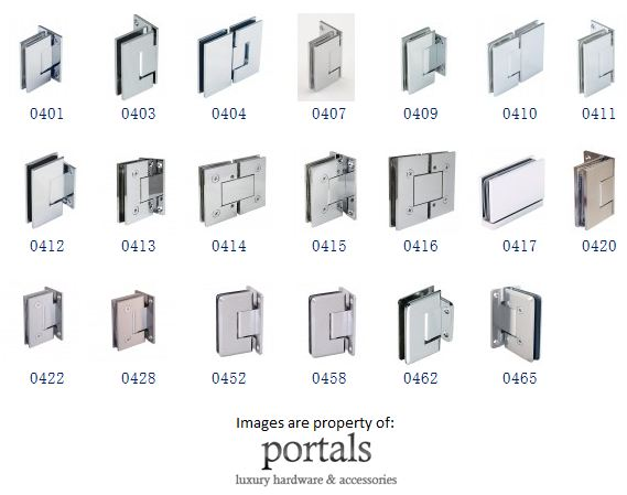 shower door hinges from the cr laurence website portals hings accent
